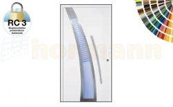 Drzwi aluminiowe ThermoSafe, Wzór 40, kolor do wyboru, przeciwwłamaniowe RC 3