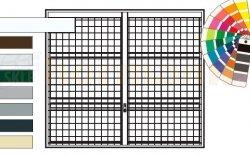 Brama uchylna N 80, 2750 x 2000, Wzór 903 spawana krata 100 x 100 x 5 mm, kolor do wyboru