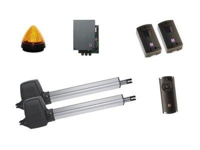 ZESTAW: napęd RotaMatic 2 seria 3 BiSecur (skrzydło do 2500 mm, do 220 kg) + pilot HS 5 BS (z funkcją sprawdzania statusu bramy) + fotokomórki EL 301 + lampka LED SLK