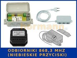 odbiorniki 868,3 MHz (niebieskie przyciski)