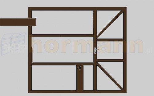 Wzór 905, z drzwiami, do samodzielnego wypełnienia