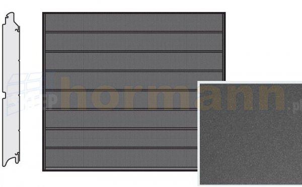 Brama LPU 42, 2500 x 2125, Przetłoczenia M, Decograin, Titan Metallic CH 703