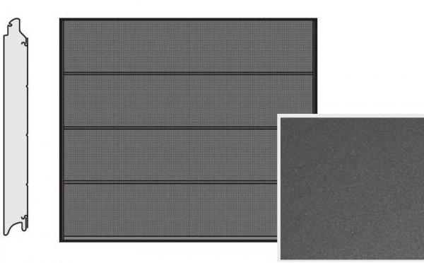 Brama LPU 42, 2375 x 2125, Przetłoczenia L, Decograin, Titan Metallic CH 703