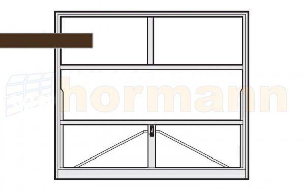 Brama uchylna N 80, 2500 x 2375, Wzór 905 do wypełnienia
