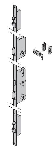 Dodatkowy zamek ryglowy - TPS Okucia ES0 ---|} owalna rozeta z wkładką patentową 40,5 + 31,5 do drzwi ThermoPro
