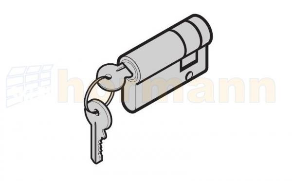 Wkładka patentowa 30 + 10 mm otwierana kluczem o innym wzorze