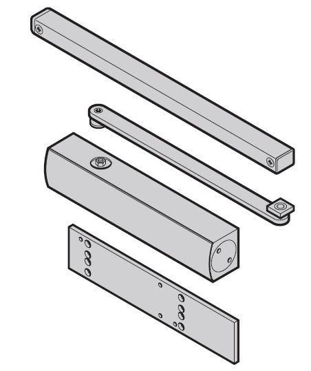 Samozamykacz górny HDC 35 do montażu po stronie przeciwnej do zawiasów do drzwi ThermoPro
