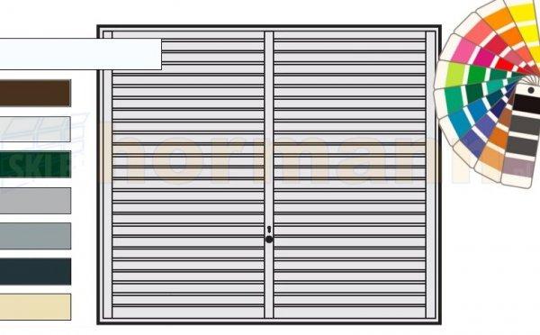 Brama uchylna N 80, 2375 x 2125, Wzór 957, kolor do wyboru