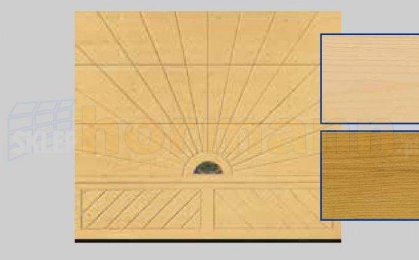 Brama LTH, 2500 x 2125, Wzór 403, Świerk, z kamieniem naturalnym
