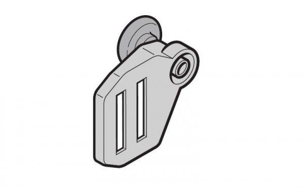 Obejma rolki górna z rolką bieżną, prowadzenie N, wersja lewa