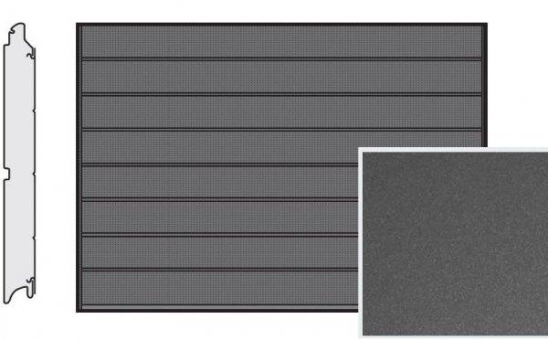 Brama LPU 42, 5000 x 2125, Przetłoczenia M, Decograin, Titan Metallic CH 703