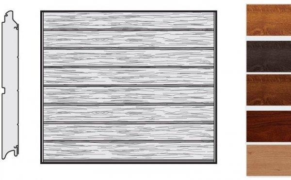 Brama LPU 42, 2500 x 2000, Przetłoczenia M, Decograin, okleina drewnopodobna