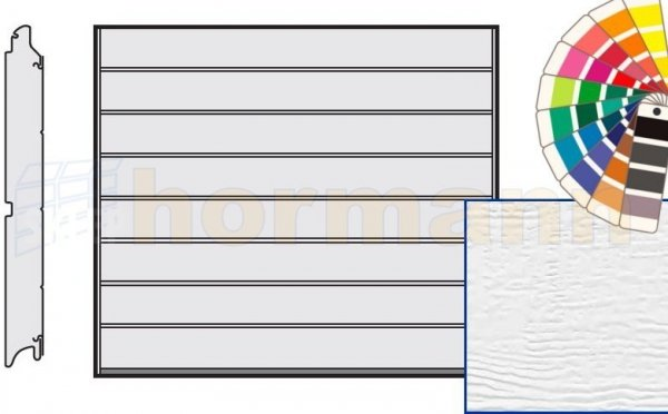 Brama LPU 42, 2315 x 1955, Przetłoczenia M, Woodgrain, kolor do wyboru