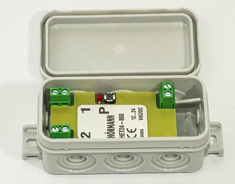 UNIWERSALNY odbiornik 2-kanałowy HET 24 868 MHz (zasilanie 24 V) pasuje do wszystkich urządzeń na rynku (funkcja impuls)