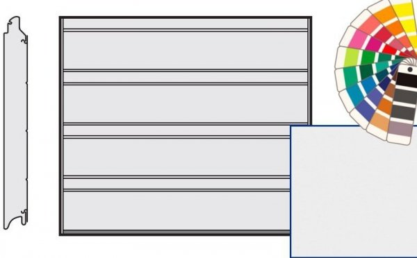 Brama LPU 42, 2375 x 2000, Przetłoczenia D, Silkgrain, kolor do wyboru
