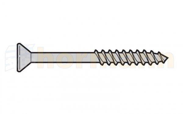 Śruba z łbem stożkowym płaskim Homplast z wgłębieniem krzyżowym 5 x 12