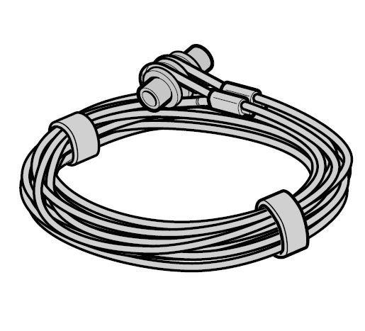 Lina stalowa Ø 3 mm z mocowaniem, prowadzenie Z, komplet do każdej bramy, L = 2990, wysokość bramy do 2500