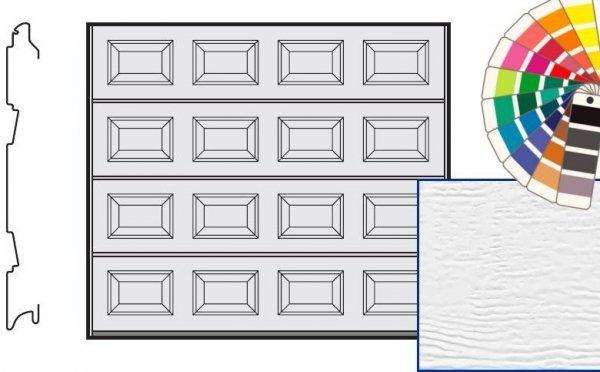 Brama LTE, 2500 x 2000, Kasetony S, Woodgrain, kolor do wyboru