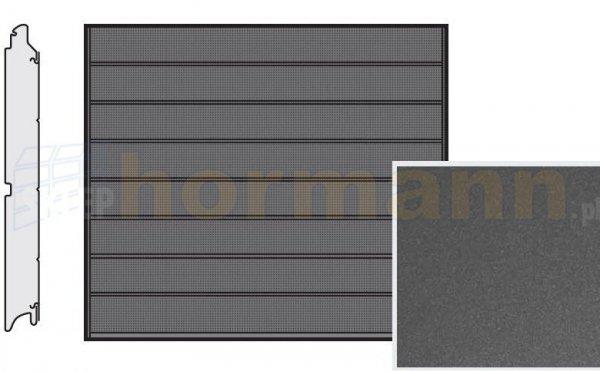 Brama LPU 42, 2375 x 2000, Przetłoczenia M, Decograin, Titan Metallic CH 703