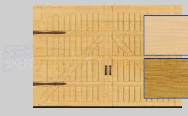 Brama LTH, 5000 x 2125, Wzór 405, Świerk, z okuciami
