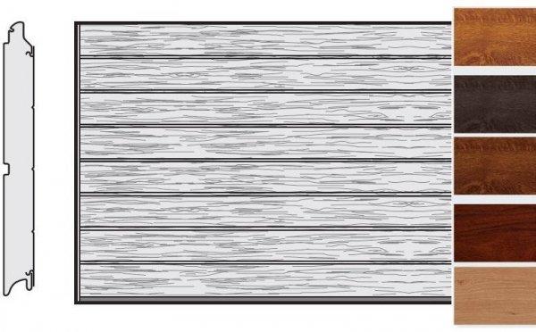 Brama LPU 42, 5000 x 2125, Przetłoczenia M, Decograin, okleina drewnopodobna