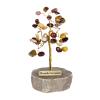 Drzewko szczęścia. Ok. 40 kamieni szlachetnych. Różne rodzaje. Średnica 8,5 cm   wys.8 cm.