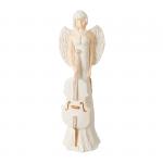 Anioł z wiolanczelą.Materiał gips. Kolor anioła biały, kolor kontrabasu : biały lub brązowo-złoty. Wysokość 40.5 cm