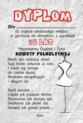 Drewniana tabliczka MDF 18 lat kobiety