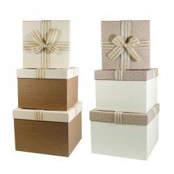 Komplet 3 pudełek prezentowych, mix kolorów