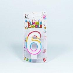 Świeczka urodzinowa '6 '