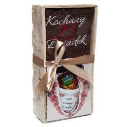Zestaw prezentowy dla Kochanego Dziadka z herbatką kubkiem i ręcznikiem