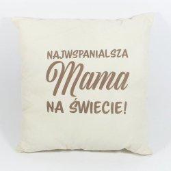 Najwspanialsza Mama na Świecie Poduszka bawełniana dwustronna