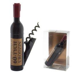 Otwieracz do wina w kształcie butelki, 60-urodziny