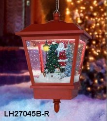 Wisząca lampa bożonarodzeniowa z mikołajem