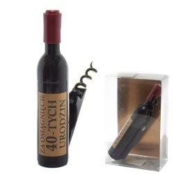 Otwieracz do wina w kształcie butelki, 40-urodziny