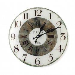 Zegar szklany okrągły 30x4cm PARIS