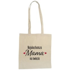 Torba eko z napisem Najukochańsza Mama na Świecie