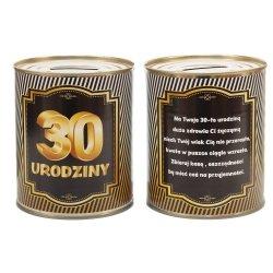 Skarbonka metalowa urodzinowa 30