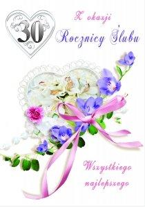 Kartka Z Okazji 30  Rocznicy Ślubu