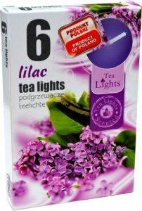 PODGRZEWACZ 6 SZTUK TEA LIGHT LILAC
