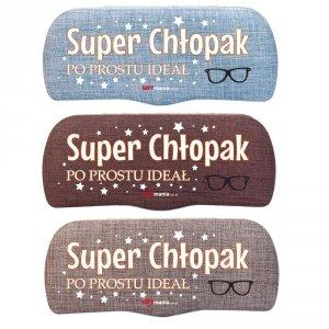 Etui na okulary z nadrukiem UV Super Chłopak - po prostu ideał - mix kolorów