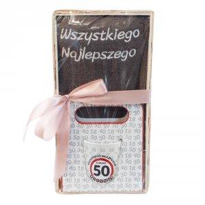 Zestaw prezentowy na 50 urodziny Wszystkiego najlepszego z okazji 50 urodzin