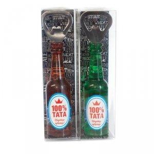 Otwieracz magnes w opakowaniu 100% Tata - mix kolorów