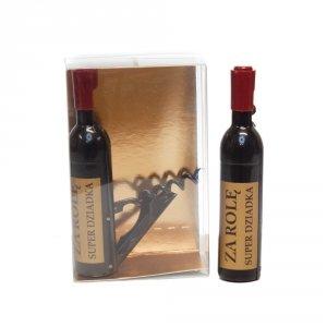 Otwieracz do wina w kształcie butelki, za rolę Super Dziadka