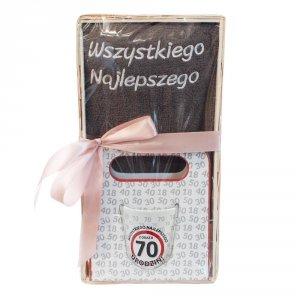 Zestaw prezentowy na 70 urodziny Wszystkiego najlepszego z okazji 70 urodzin