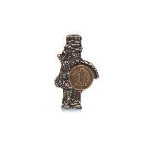 Metalowa figurka na szczęście kominiarz