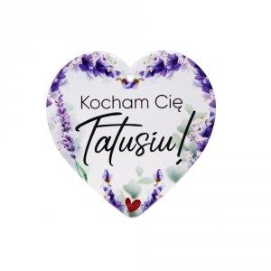 Ceramiczna tabliczka w kształcie serca Kocham Cię Tatusiu