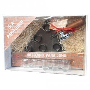 Kielnia pana domu - zestaw z kielnią i 5 kieliszkami w ozdobnym opakowaniu