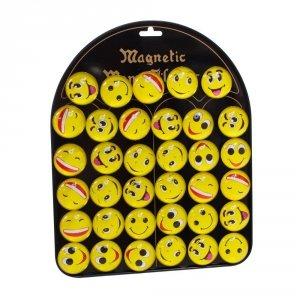 Zestaw 35 magnesów - emotikony