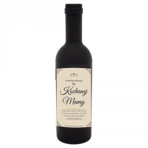 Akcesoria winiarskie w kształcie butelki z napisem Dla Kochanej Mamy